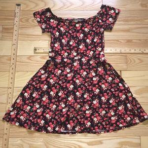 Junior's Floral Skater Dress